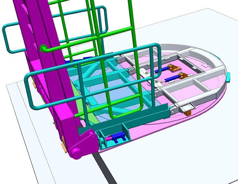 3D model of River Mersey passenger ferry access ramp