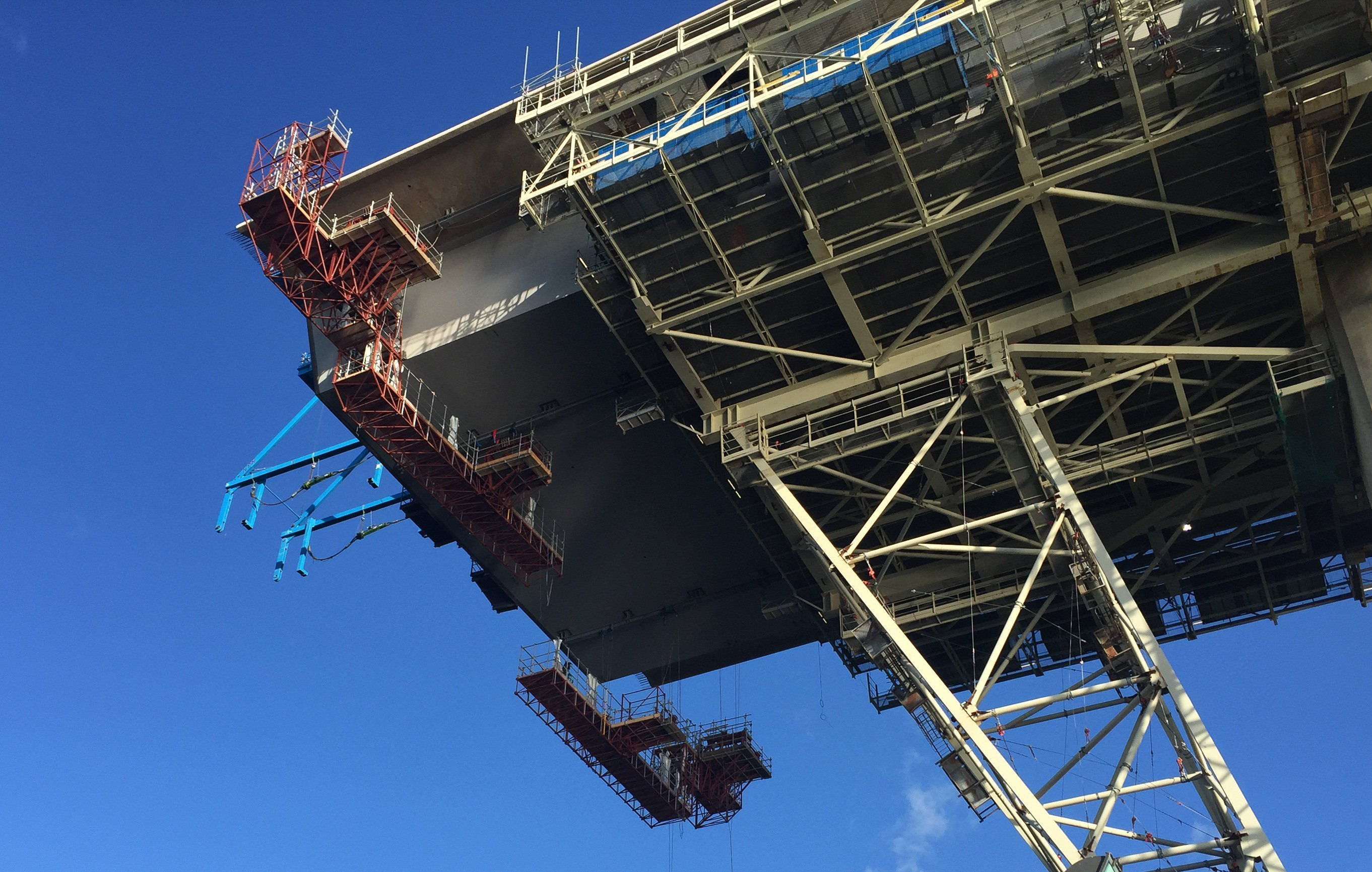 Queensferry construction gantries