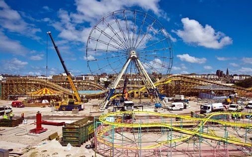 Dreamland timer roller coaster during construction
