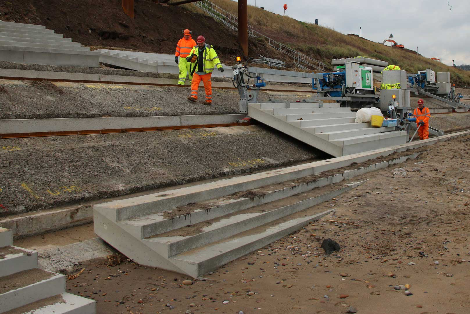 Sandsend MULE revetment laying machine
