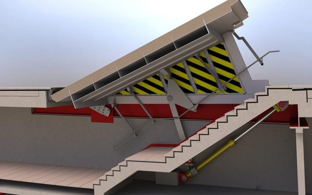 Leadenhall Escape Hatch section through 3D model