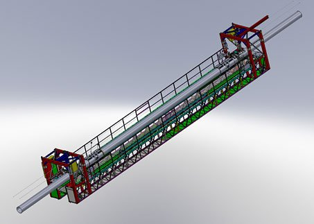 Solidworks image of mounted gantry