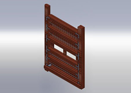 SolidWorks image showing the design of the new timber lock gates