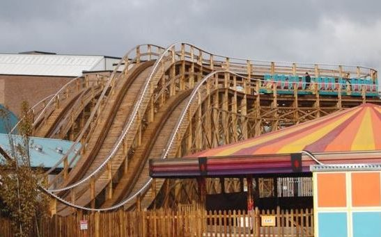 Dreamland timber roller coaster