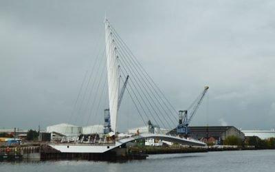 Media City Swing Bridge Nears Completion
