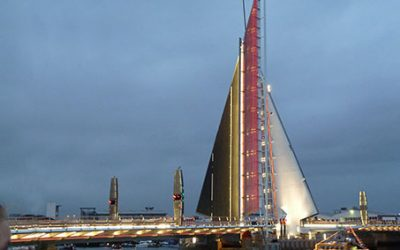 Poole Harbour Twin Sails Bridge Opens To Traffic