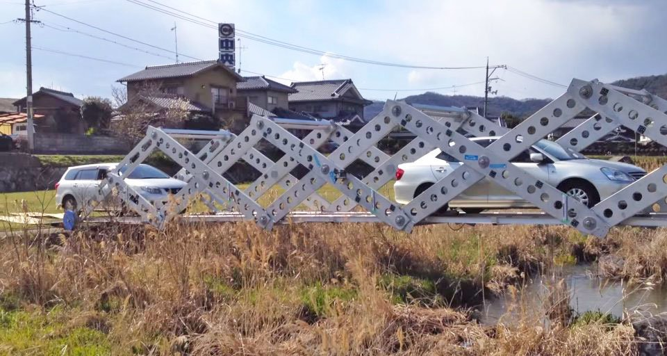 Origami inspired deployable bridge