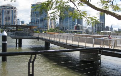 New Farm River Walk Swing Bridge