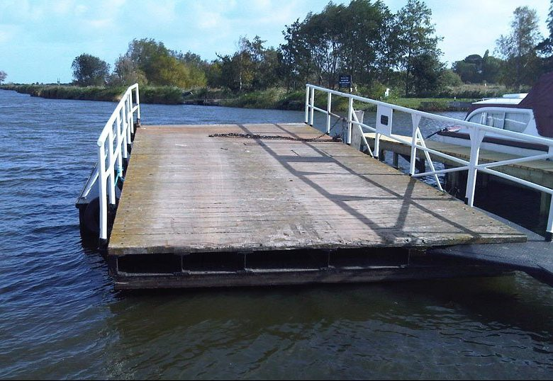 Original Heigham Holmes floating Swing Bridge