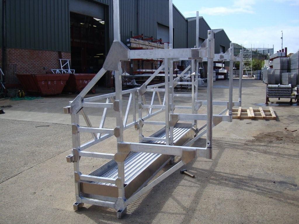 Forth Road bridge aluminium hop down platform