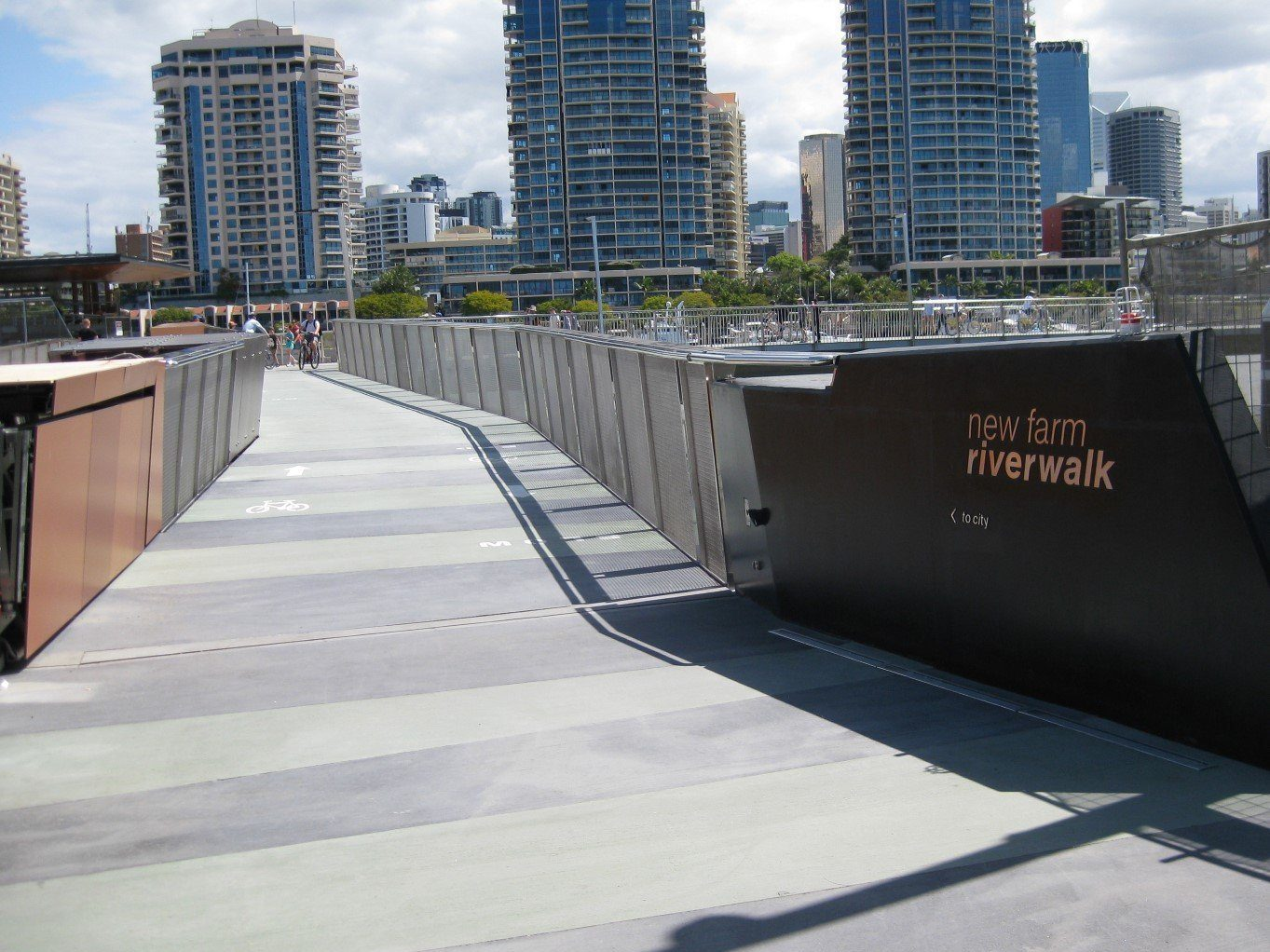 Newfarm Riverwalk Swing Bridge