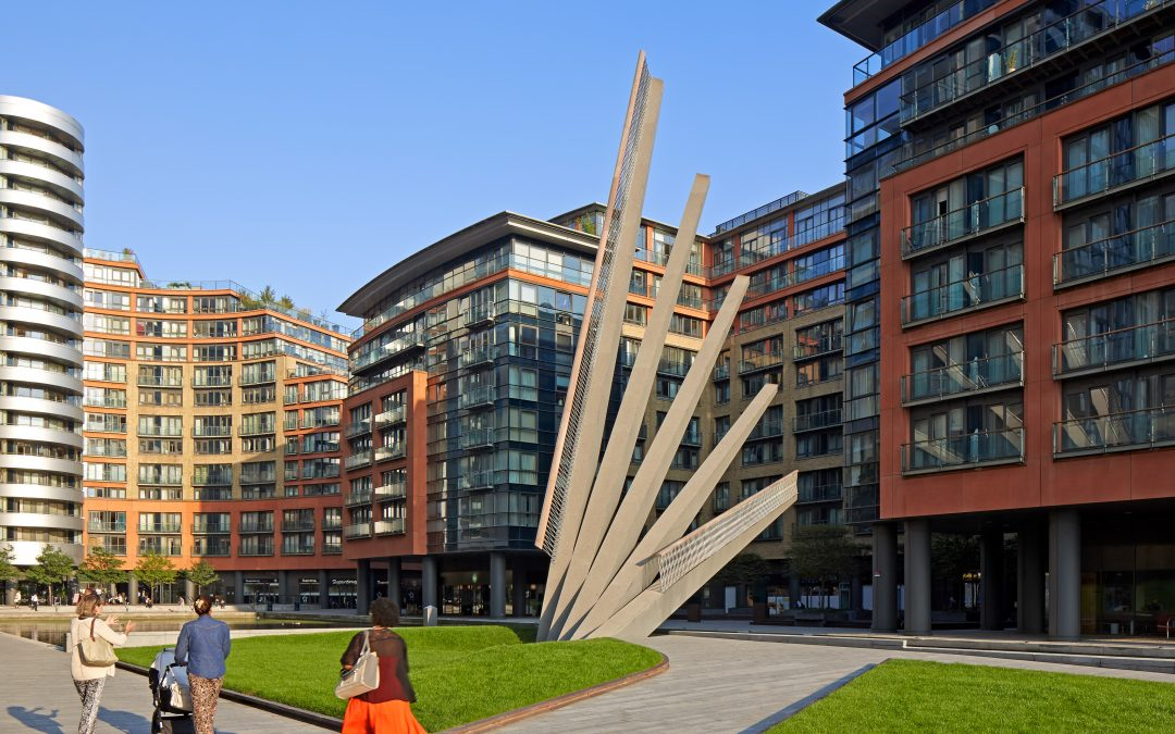 Paddington Merchant Square Fan Bridge raised © Edmund Sumner
