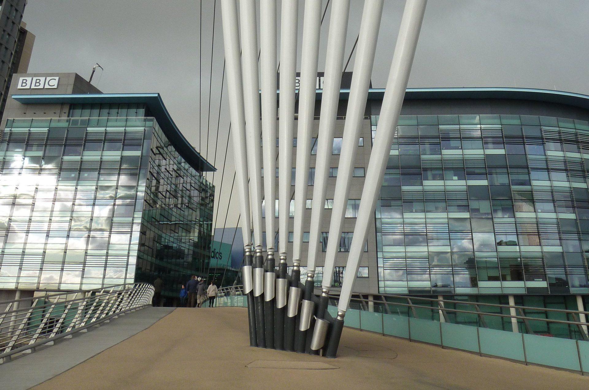 Media City Swing Bridge Bearings at base of masts