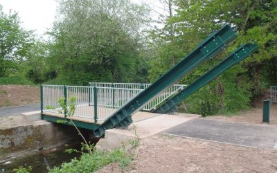 Bettws to Malpas Cycleway Rolling Bascule Bridge