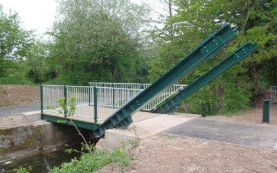 Bettws to Malpas Cycleway Rolling Bascule Bridge