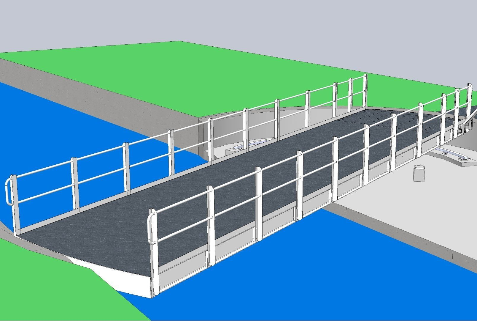 Carter House manual swing bridge 3D model
