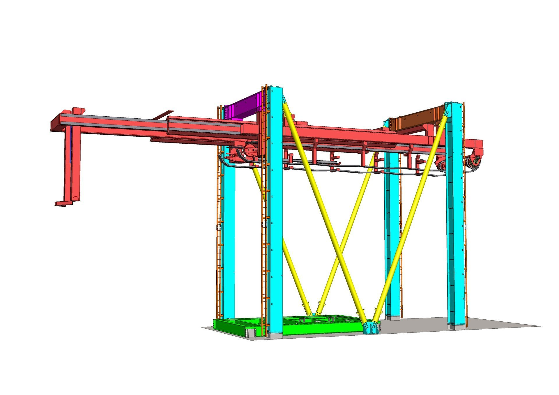 Telescopic crane 3D model