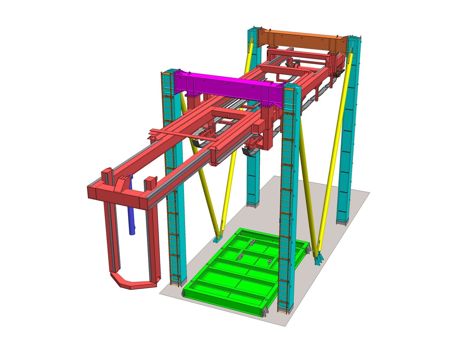 Telescopic crane 3D model