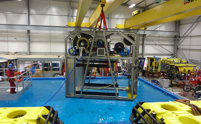 ROV Garage being tested at the works