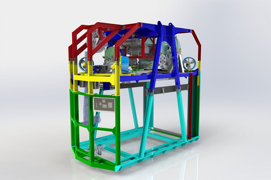 3D model of ROV garage