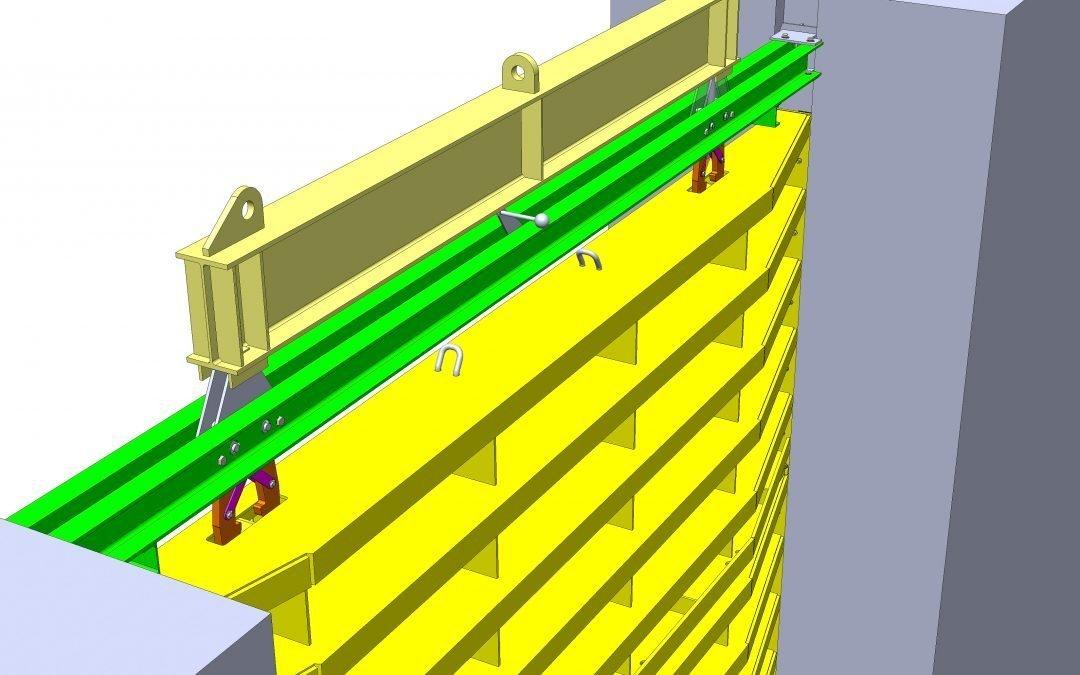 3D model of stop log
